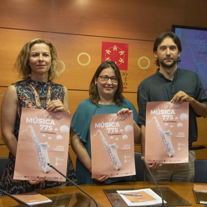 Los días 2, 3 y 4 de agosto se celebrará el VI Festival Música 775 Vilafranca