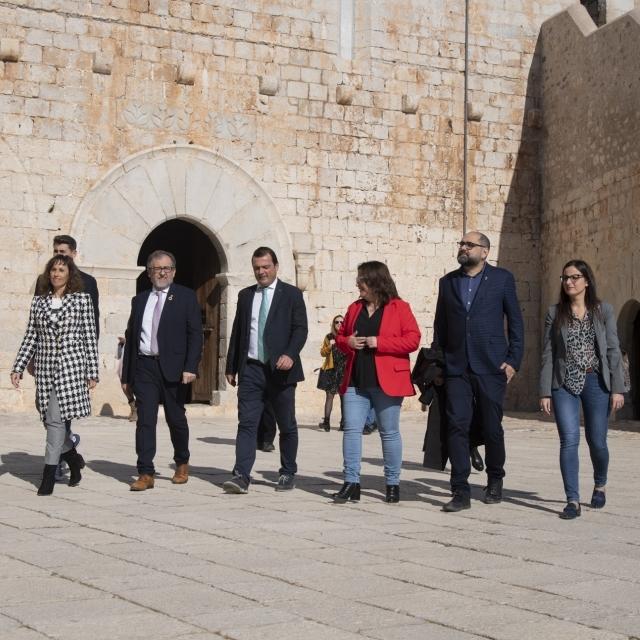 José Martí destaca que el Castillo de Peñíscola será accesible cuando en 2021 finalicen las obras de rehabilitación