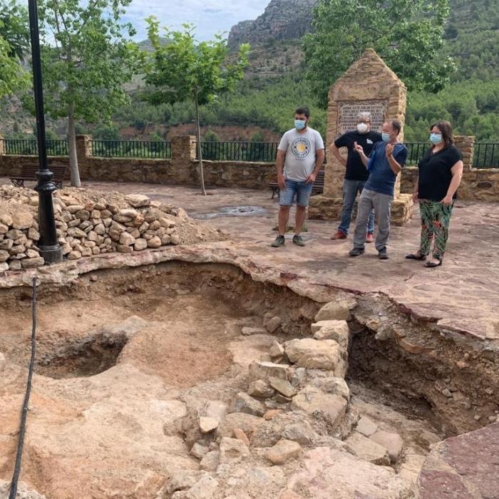 El equipo de arqueólogos de la Diputación saca a la luz los restos del antiguo Palacio de Argelita