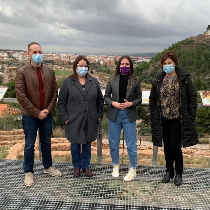 La Diputación y el Ayuntamiento de la Vall d'Uixó trabajarán para potenciar como recurso turístico el poblado íbero de Sant Josep