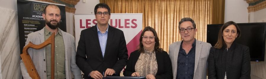 El prestigioso festival de música medieval 'Early Music Morella' se presenta en Castelló y suma la Diputación como colaborador